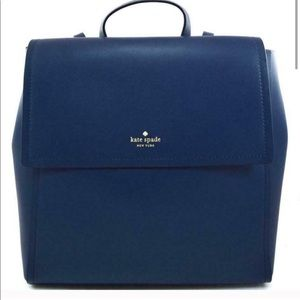 New Kate Spade Navy Leather Backpack Somerville